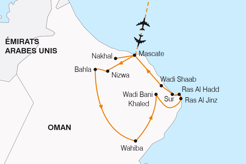carte Oman la perle de l Orient SH19 20_319 530058