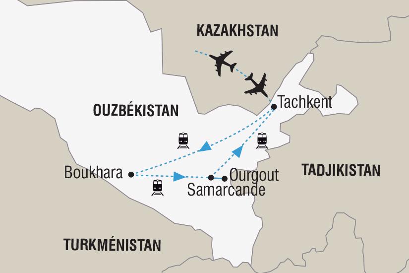 carte Ouzbekistan Fete du Navrouz Route de la Soie_348 299313