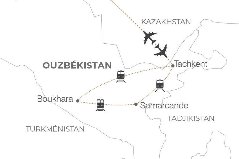carte Ouzbekistan L Essentiel de l Ouzbekistan 371385