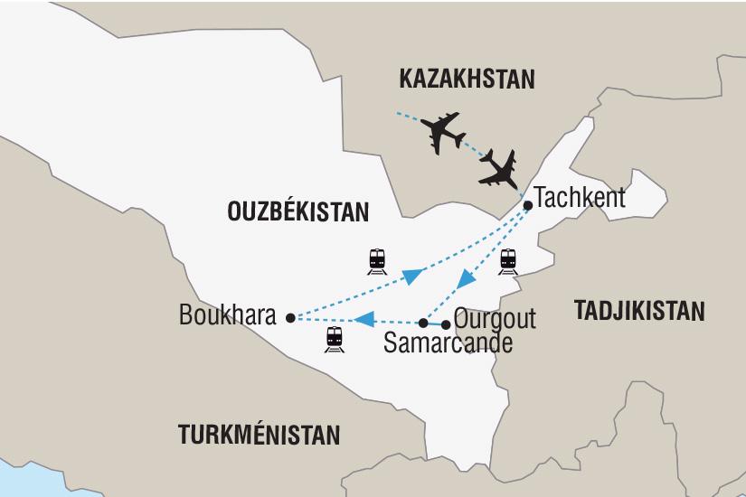 carte Ouzbekistan La Fete du Navrouz sur la Route de la Soie_306 258223
