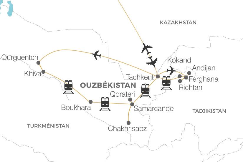 carte Ouzbekistan La Route de la Soie extension vallee Ferghana Pouchkine Tours 19_286 141118
