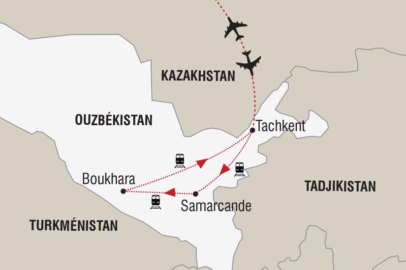 carte Ouzbekistan Legendes d hiver Route de la Soie_348 431207