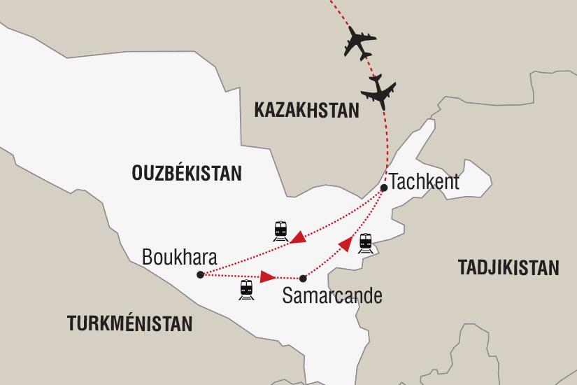 carte Ouzbekistan Legendes d hiver sur la route de la soie_306 719210