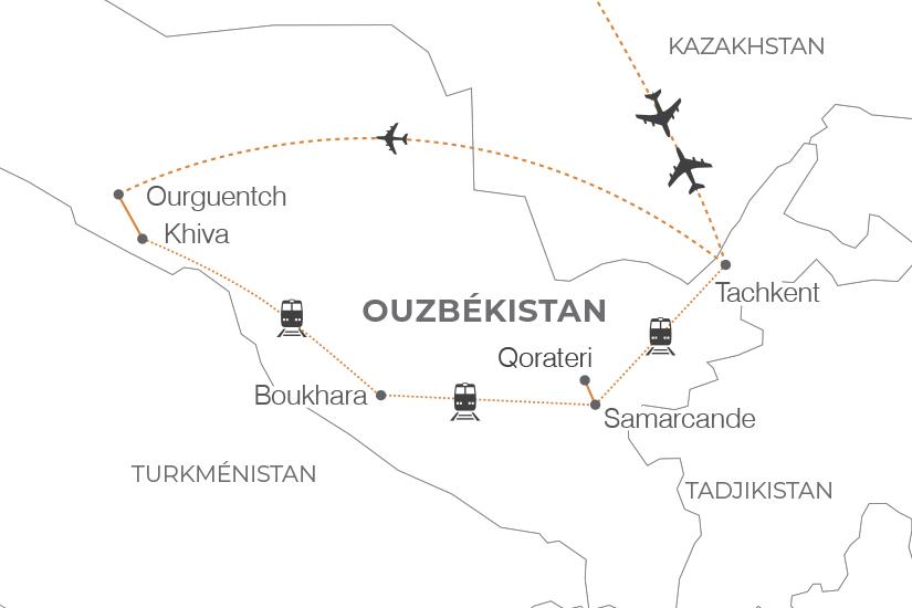 carte Ouzbekistan Tresors de l Ouzbekistan Pouchkine Tours 20_340 165230