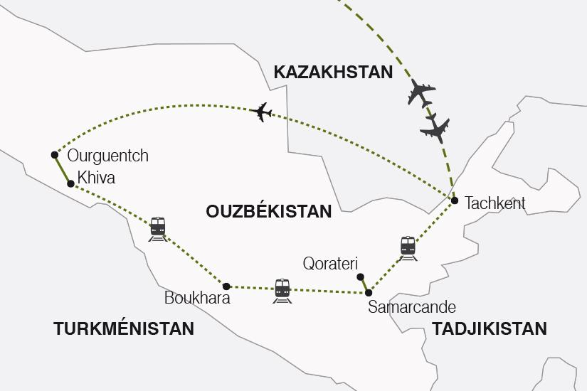 carte Ouzbekistan Tresors de l Ouzbekistan SH20_339 159900