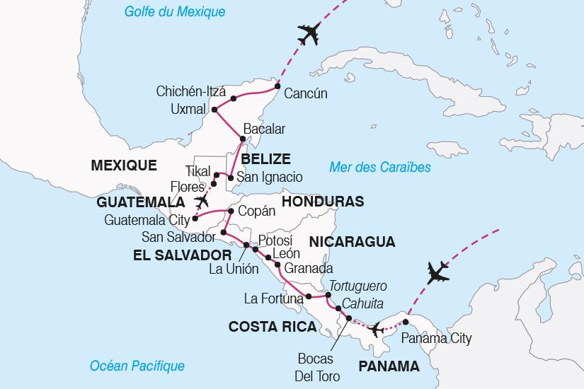 carte Panama Mexique La grande traversee de l Amerique Centrale SH20_339 172919