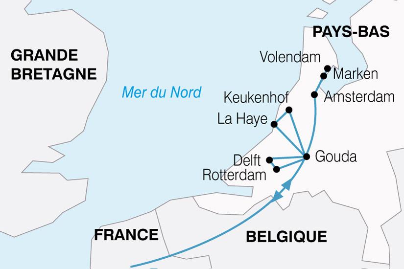 carte Pays Bas Fine Fleur 715044