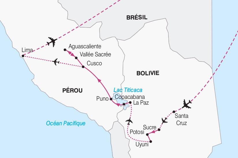carte Perou Bolivie et Perou le coeur du Monde Andin 2018_267 791353