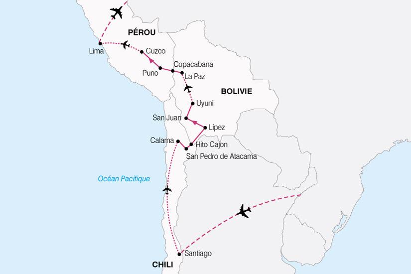 carte Perou Chili Bolivie 416354