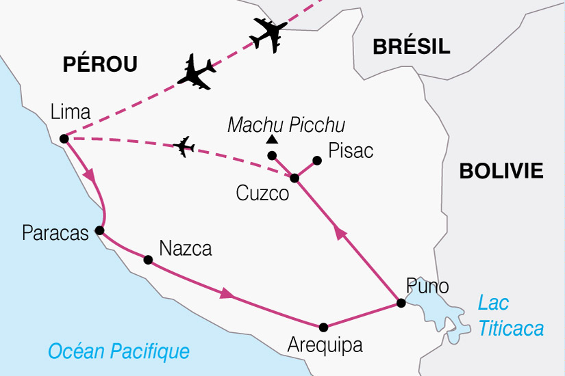 (Map) carte Perou Tresors