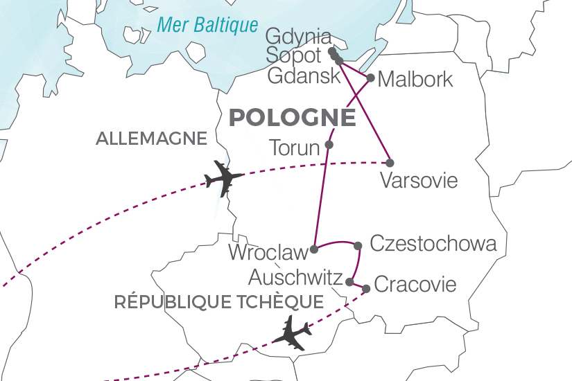 carte Pologne Echappee polonaise au coeur de l histoire Pouchkine Tours 19_286 261562