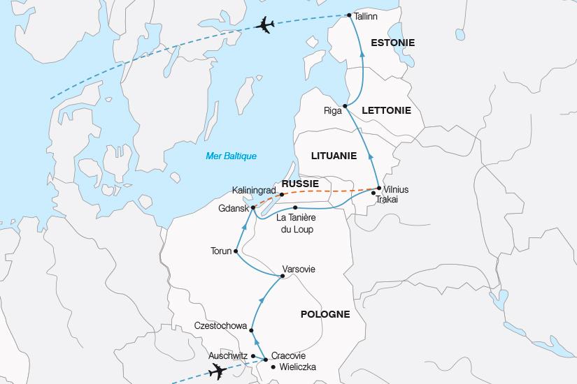 carte Pologne La Pologne et les Pays Baltes SH19 20_319 674508