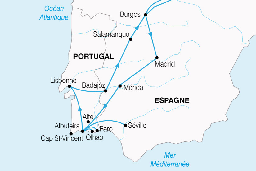 carte Portugal Algarve Sud Portugal 370621