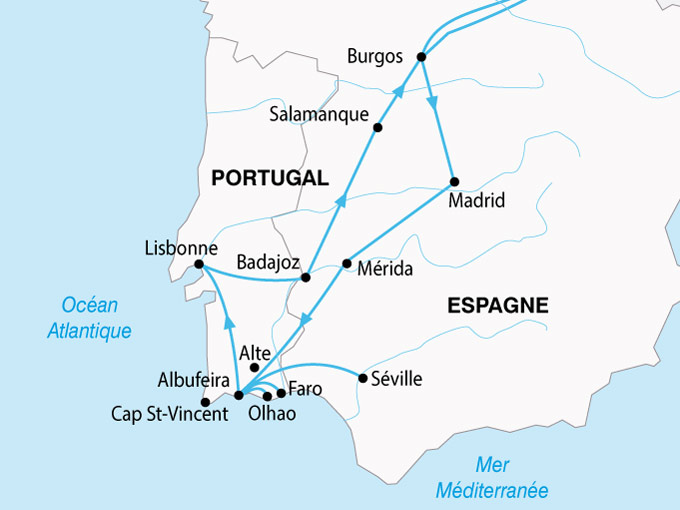 carte Portugal Algavre Sud Portugal 613021