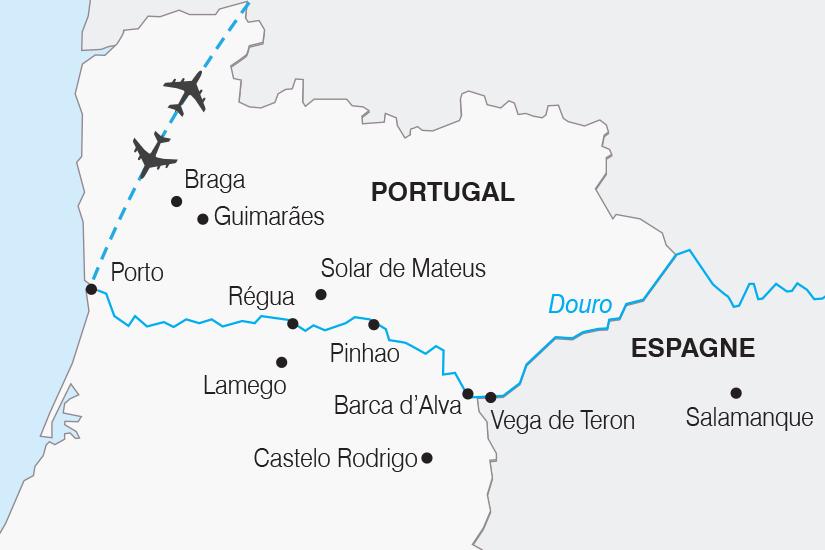 carte Portugal Croisiere O fil du Douro SH19 20_319 631188