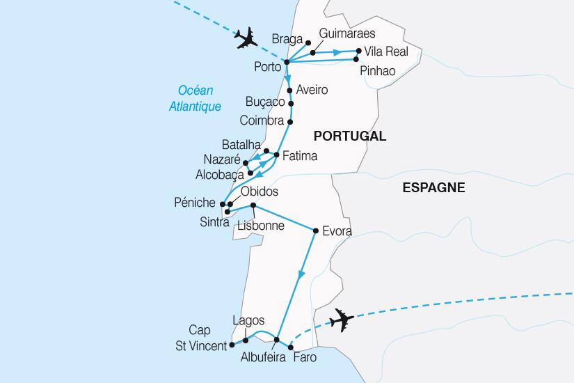 carte Portugal Du Nord au Sud SH19 20_319 553992