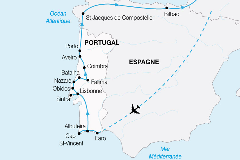 carte Portugal Grand Tour 307674