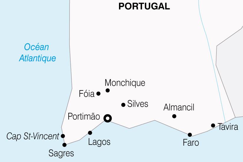 carte Portugal LAlgarve Richesses du Sud du Portugal 340230