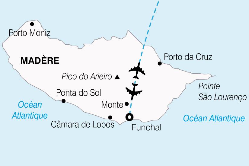 Carte Portugal Madere Fleurs 663456