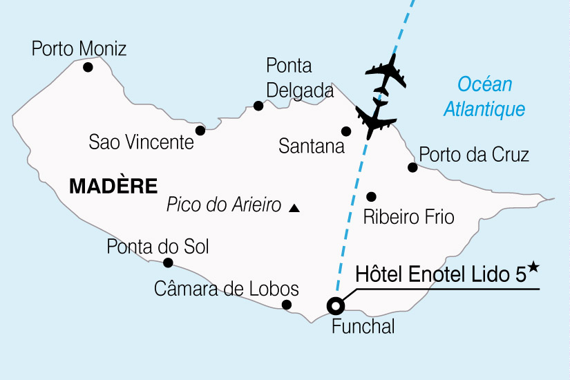 carte Portugal Madere Hotel Enotel Lido 362662