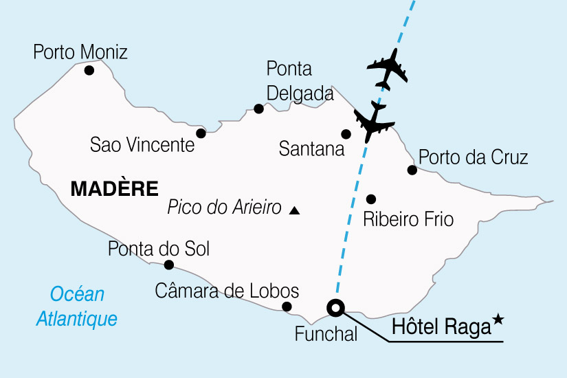 carte Portugal Madere Hotel Raga 561059