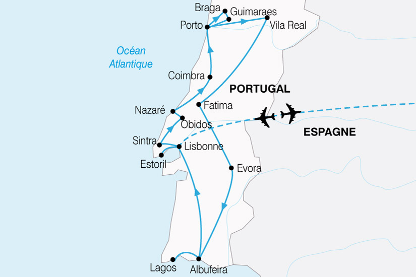 carte Portugal Nord Sud 402870
