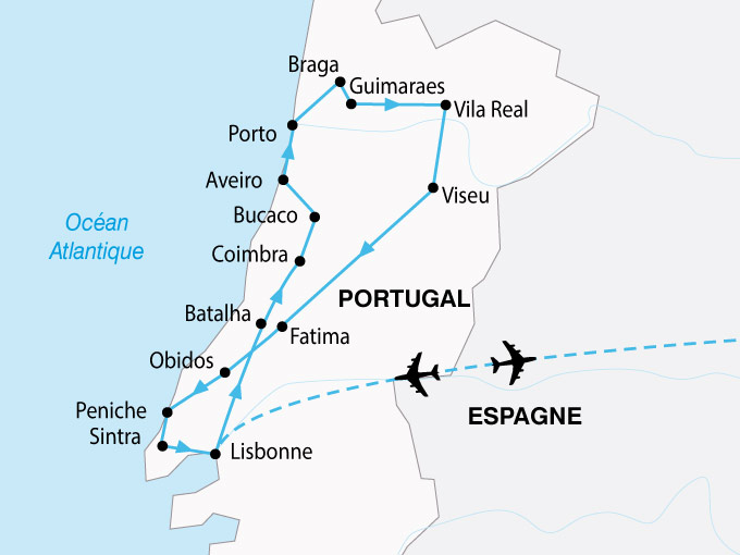 carte Portugal Tage Douro 103601