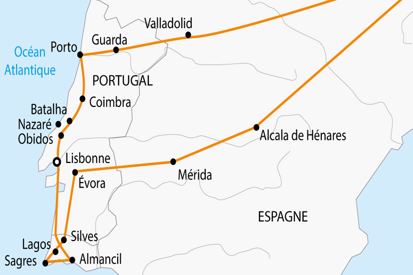 carte Portugal Vallee du Douro a l Algarve depart sud 2019_297 181347