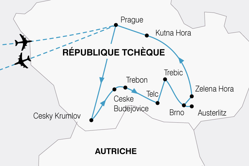 carte Rep Tcheque Prague Boheme 472017
