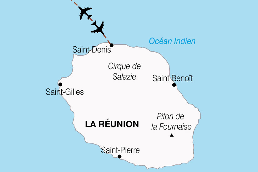 carte Reunion Ile Bourbon 117544