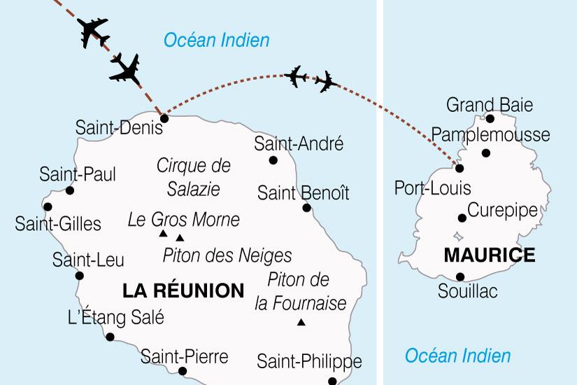 carte Reunion Maurice Charme Ocean Indien 621882
