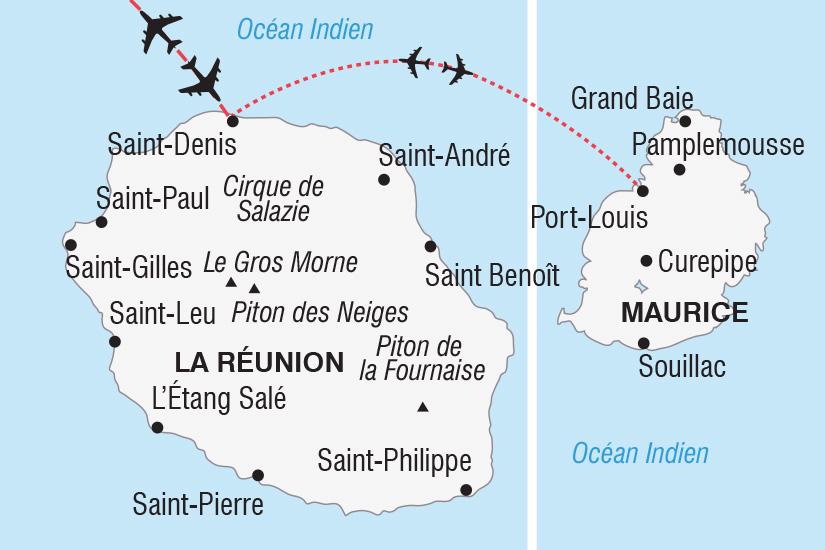 Carte Reunion Maurice.Circuit Ile Maurice Reunion Reunion Et Maurice Nouvel