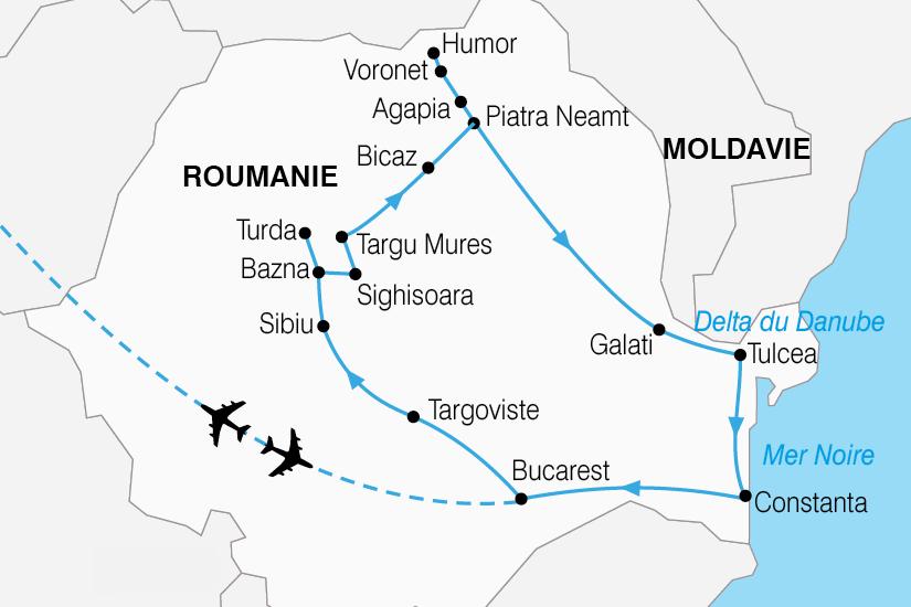 carte Roumanie Carpates roumaines delta Danube 534590