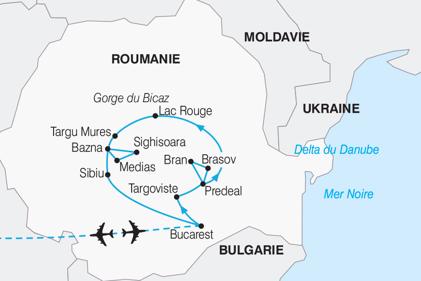 carte Roumanie Decouverte de la Transylvanie 267 283263