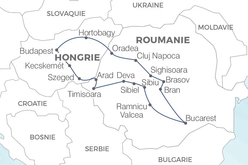 carte Roumanie Hongrie Joyaux de la Roumanie et de la Hongrie Pouchkine Tours 19_286 400403