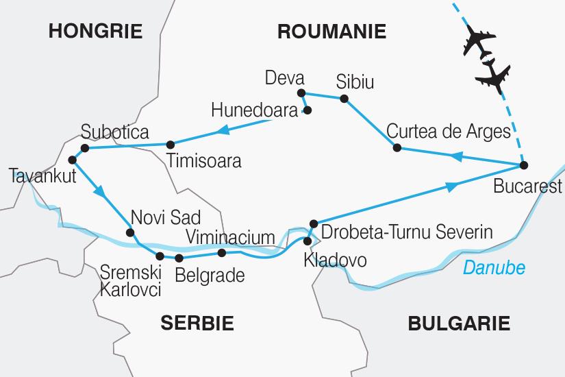 carte Roumanie Serbie Joyaux de la Roumanie et de la Serbie SH20_339 458667