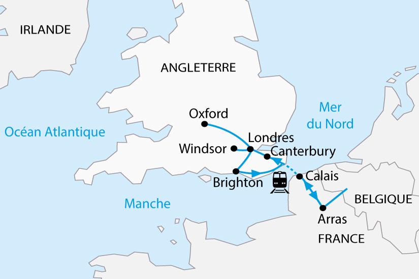 carte Royaume Uni Angleterre Londres Palais de Windsor depart sud 2019_297 264311