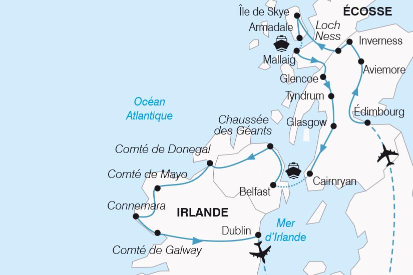 carte Royaume Uni Magie Celte entre Ecosse et Irlande SH20_339 704054