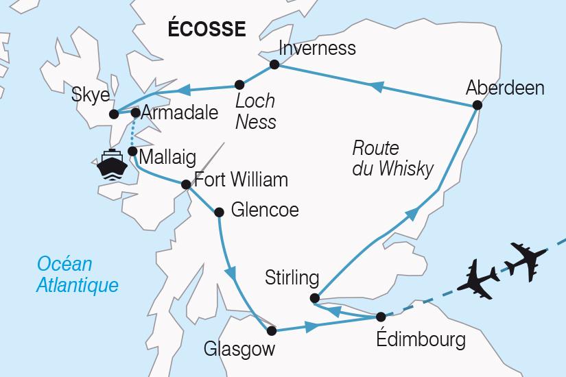 Ecosse - Grande-Bretagne - Royaume Uni - Circuit Merveilles d'Écosse