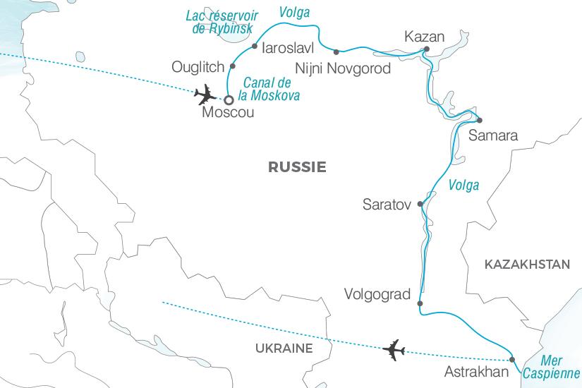 carte Russie Croisiere Collection Prestige de Moscou a Astrakhan Pouchkine Tours 19_286 384348