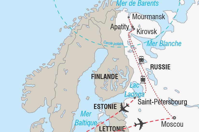 carte Russie L express des aurores boreales_306 374480