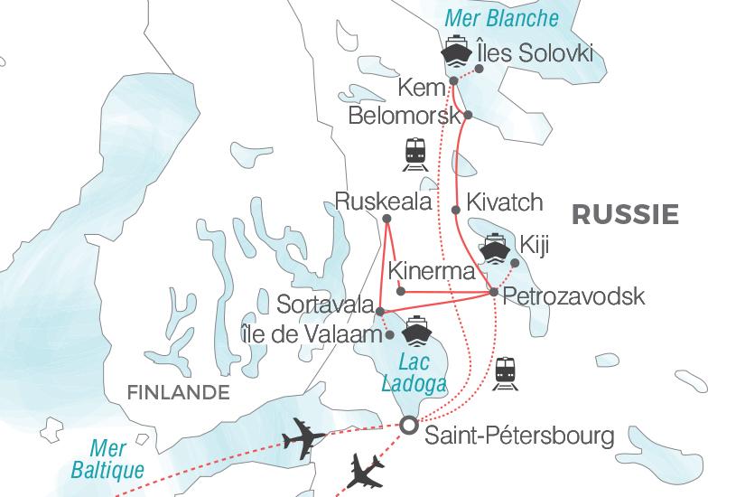 carte Russie La Carelie une terre d exception sur la Route du nord Pouchkine Tours 19_286 194461