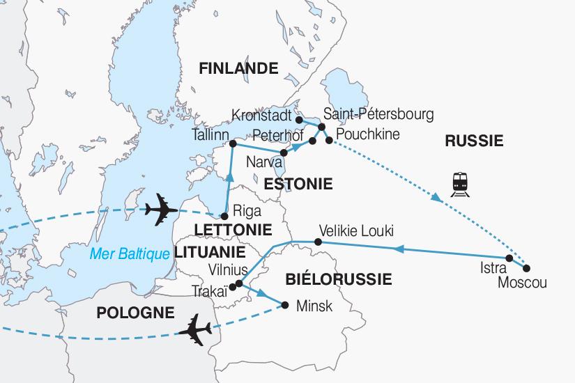 carte Russie Les Pays Baltes la Russie et la Bielorussie 2018_267 307612