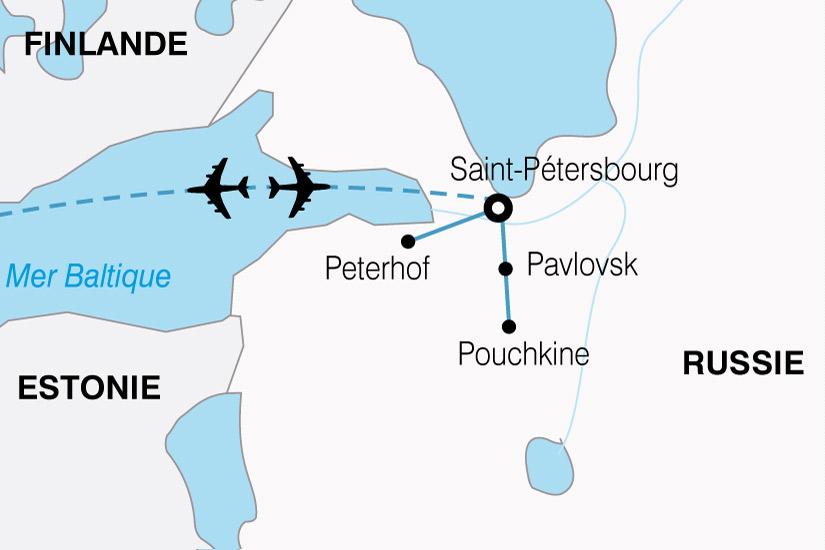 carte Russie Majestueuse Saint Petersbourg 474748