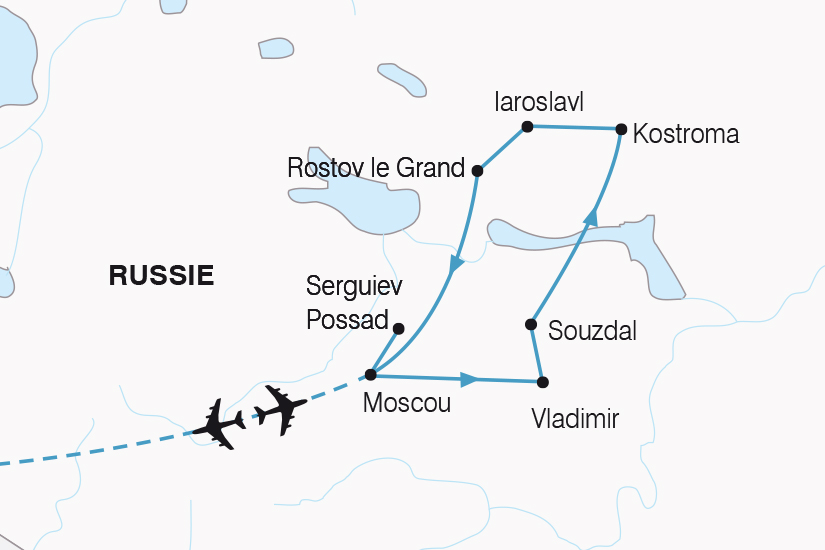 carte Russie Moscou et l Anneau d or SH20_339 635972