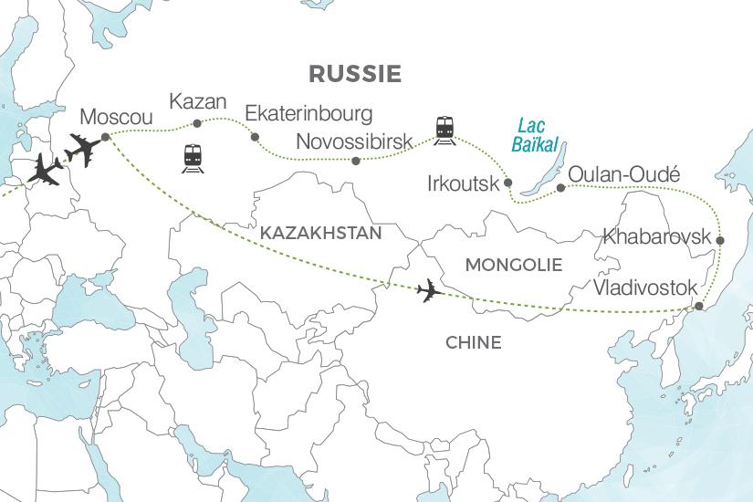 carte Russie Transsiberien La Russie Imperiale sens inverse Pouchkine Tours 19_286 386997