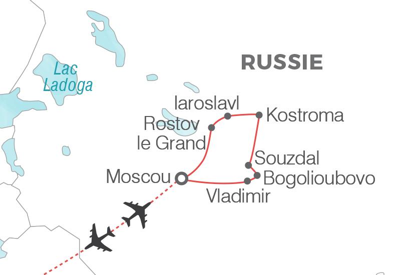 carte Russie Week end a Moscou extension l anneau d or Pouchkine Tours 20_340 755512