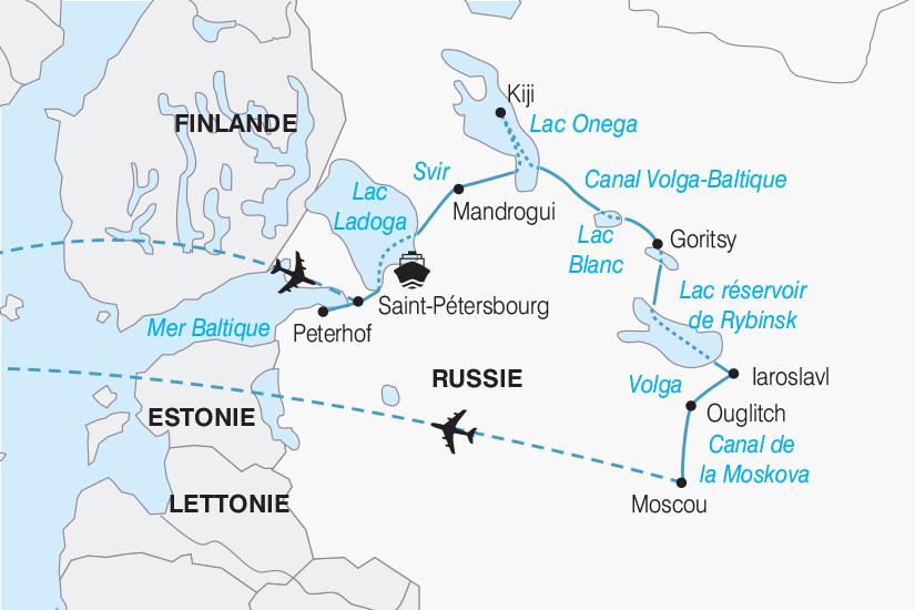 carte Russie croisiere La Russie au rythme de la Volga 2019_292 369279