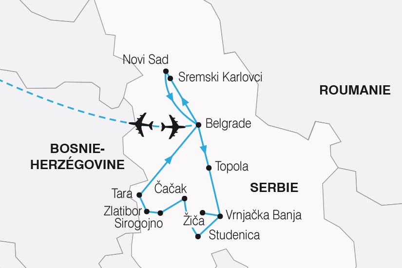 carte Serbie Perle des Balkans SH20_339 177634