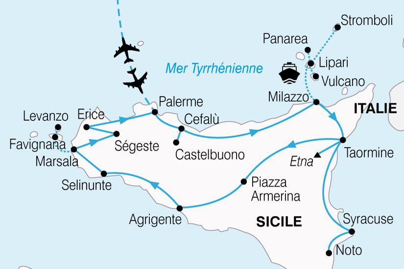 carte Sicile Au Pied Volcan 397621